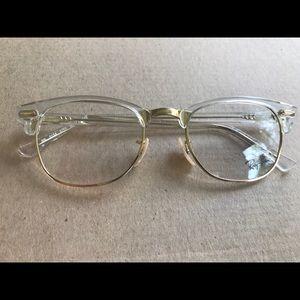 Ray Ban gold eyeglasses with demo lenses